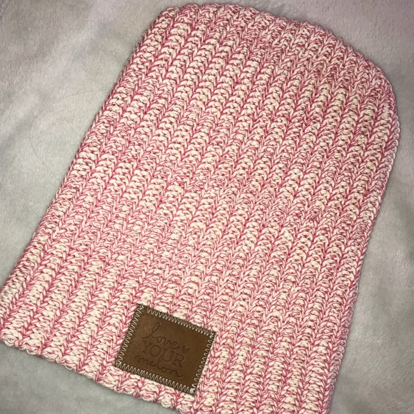 Love Your Melon pink speckled beanie dac9dc3e036f